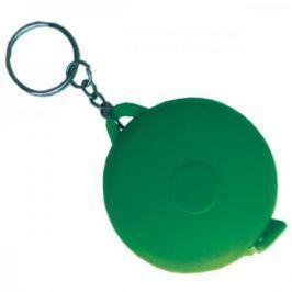Брелок-рулетка, пластик, зеленый
