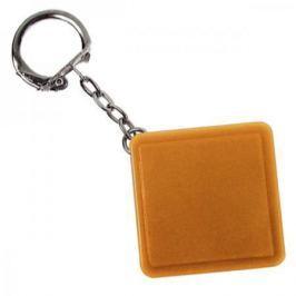 Брелок-рулетка квадратный, пластик, оранжевый