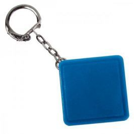 Брелок-рулетка квадратный, пластик, синий