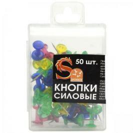 Набор кнопок силовых, прозрачные головки, 50 штук в пластиковой коробочке, европодвес SPP02P