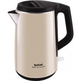 Чайник Tefal KO371 I30 Safe to touch 2200 Вт чёрный бежевый 1.5 л металл/пластик
