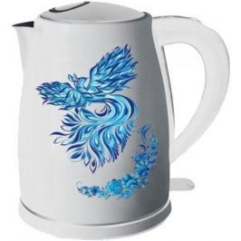 Чайник Добрыня DO 1218 2000 Вт белый рисунок 1.8 л металл