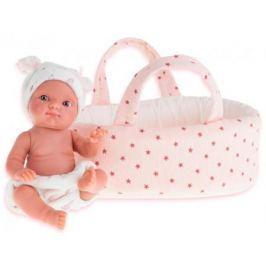 Кукла Munecas Antonio Juan Пепита в белой корзине, 21 см 3901P