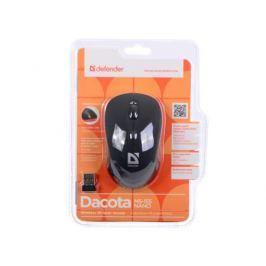 Мышь Defender Dacota MS-155 Nano B(Черный) 2кн+кл, 1000/1500/2000 dpi