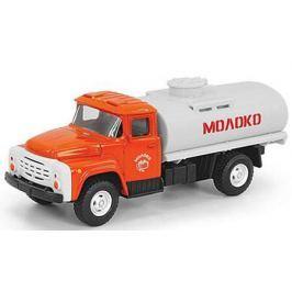 Инерционная металлическая машинка Play Smart 1:52 грузовик(молоко) 16x6x7,65см