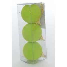 Набор украшений елочных ШАРЫ флокированные, 3 шт, 5,5 см, 5 цв , полимерный мат., в прозр кор