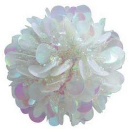 Шар с лепестками, 1 шт., 6 см, бело-фиолетовый