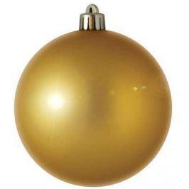 Шар блестящий, 7 см, золотой, 1 шт. в прозрачной коробке