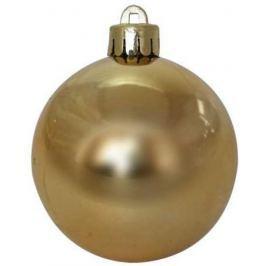 Шар блестящий, 6 см, золотой, 1 шт. в прозрачной коробке