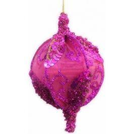 Елочные украшения Winter Wings шар розовый с блестками 13 см 1 шт розовый полимерный материал