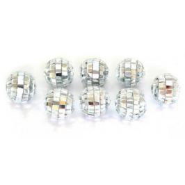 Елочные украшения Winter Wings Шары Зеркальные 2 см 20 шт серебро пластик