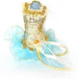 Украшение декоративное, ПАЧКА, голубая, 15 см, пластик, полиэстр, 1 шт в пакете