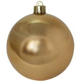 Шар блестящий, 8 см, золотой, 1 шт. в прозрачной коробке