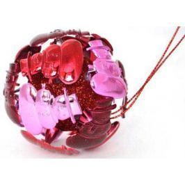 Украшение елочное ШАР СНГЕОВИКИ, 1 шт., 8 см, 4 цв. в прозрачной коробке, пластик.