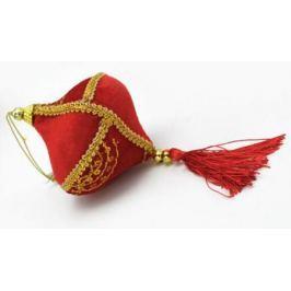 Украшение декоративное ПОДВЕСКА, 1 шт, 25 см, 4 вида, в пакете, полиэстер, красное