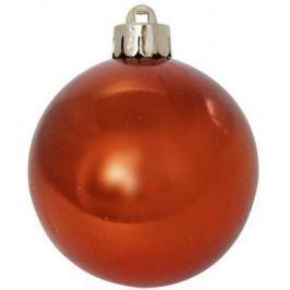 Шар блестящий, 6 см, оранжевый, 1 шт. в прозрачной коробке