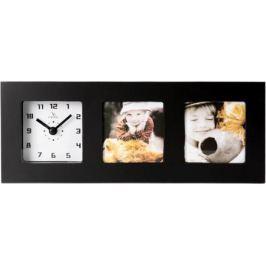 Часы-фоторамка большие Вега 6405 черные 28.5x3.8x11.1 см