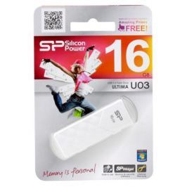 USB флешка Silicon Power Ultima U03 White 16GB (SP016GBUF2U03V1W)