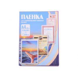 Плёнка для ламинирования Office Kit A4 (PLP12123-1) 216х303 мм, 250 мкм, глянцевая, 100 шт.