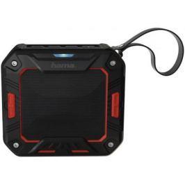 Портативная акустика Hama Rockman-S черный/красный 00173107