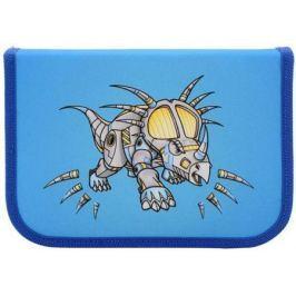 Пенал на молнии ACTION by TIGER Драконы, 1 отделение, 16 предметов, светло-синий, для мальчиков