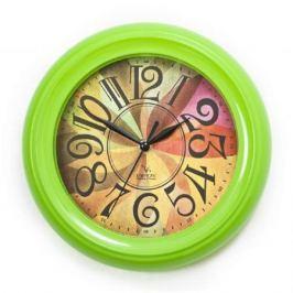 Часы настенные Вега П 6-3 мат-35 зелёный