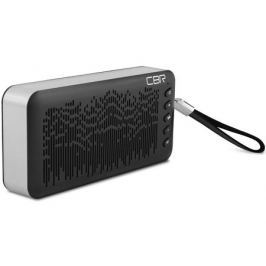Портативная колонка CBR CMS 144BT, Black/Silver (6 Вт, 80 - 18 000 Гц, Bluetooth, mini Jack, USB, Micro SD, батарея)