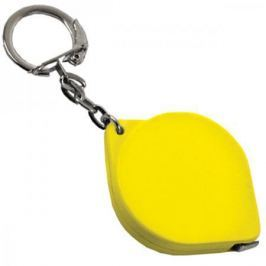 Брелок-рулетка, пласт., желт.