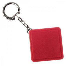 Брелок-рулетка квадратный, пластик, красный