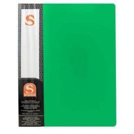 Папка с 10 файлами, форзац, ф.А4, зеленая