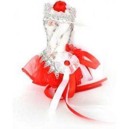 Украшение декоративное, ПАЧКА, красно-белая, 15 см, пластик, полиэстр, 1 шт в пакете