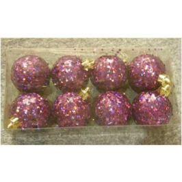 Набор шаров голограмма разноцветных, 8 шт. в прозрачной коробке, 5 см, 4 цв.