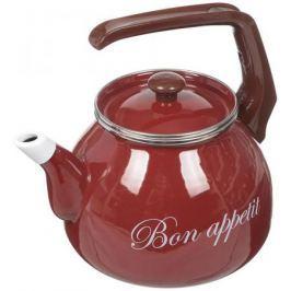 Чайник INTEROS 2234 (НЕ электрический) бордовый 3 л металл