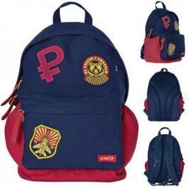 Городской рюкзак с анатомической спинкой Action! Из России с любовью синий красный