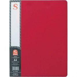 Папка с 30 файлами, форзац, ф.А4, красная
