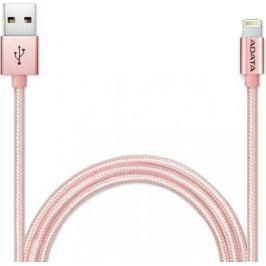 Кабель A-Data Lightning-USB для iPhone iPad iPod 1м розовое золото AMFIAL-100CMK-CRG