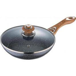Сковорода Wellberg WB-3367-MBG Titan Marblе серый