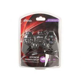 Геймпад RITMIX GP-010PS Black для ПК/PS2-3, USB+PS коннектор, 2 вибромотора, 17 кнопок, кабель 1,5м
