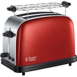 Тостер Russell Hobbs Colours Plus Flame 23330-56 красный серебристый чёрный