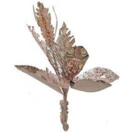 Украшение декоративное ЦВЕТОК, с блестящей крошкой, 14 см, 1 цв.|1