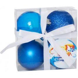Набор шаров Winter Wings N181097 6 см 4 шт синий пластик