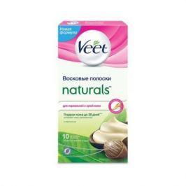 VEET Восковые полоски с маслом ши серии Naturals c технологией Easy Gel-wax 10шт