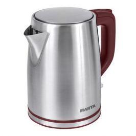 Чайник Marta MT-1092 красный гранат 2200 Вт, 2 л, металл