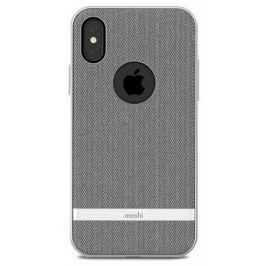 Чехол-накладка Moshi Vesta для iPhone X. Материал пластик/полиуретан. Цвет серый.