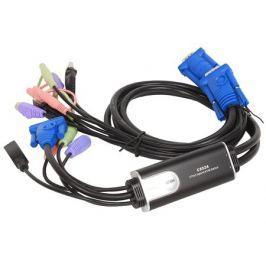 Переключатель KVM ATEN CS52A-A7 2-портовый гибридный KVM переключатель c поддержкой звука