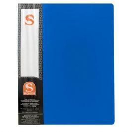 Папка с 10 файлами, форзац, ф.А4, синяя