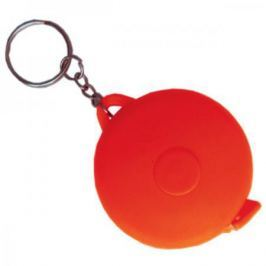 Брелок-рулетка, пластик, красный, круглый