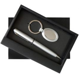 Набор: ручка шариковая + брелок овальный, комбинированный
