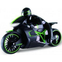 1toy Драйв, мотоцикл с гонщиком на р/у, 2,4GHz, езда с наклоном, свет фар, с АКБ 700mAh Ni-CD, зелен