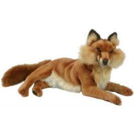 Мягкая игрушка лисица Hansa Лиса лежащая 45 см коричневый плюш